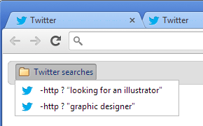 Bookmarked Twitter Searches.