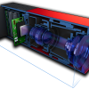 Laser Camera Cutaway. Technical Illustration by Creative Freelancer James Provost