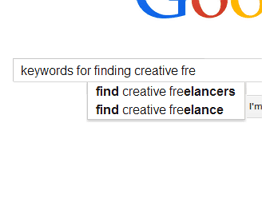 Keywords for Finding Creative Freelancers