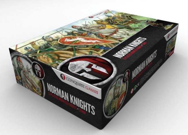 Sean Turtle: Freelance graphic designer specialising in wargaming. Artwork for Conquest Games - Norman knights.
