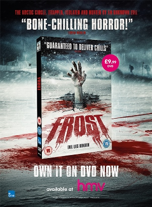 Frost. DVD Packaging and Print Design by Freelance Graphic Designer Elliot Cardona. Click to Visit Elliot's Design Portfolio!