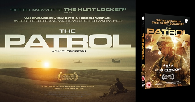 The Patrol. Theatrical Creative and DVD Packaging Design by Freelance Graphic Designer Elliot Cardona.