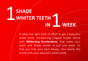 "How Graphic Design Boosts Brand Recognition: A strong visual hierarchy draws attention to the headline (and to the copy claim,) thereby positioning this product as ""whitening toothpaste."" Click the image to see the original Colgate ad!"
