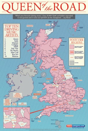 Map Infographics for Tesco Compare by Infographics Designer Jack Hagley. Click to visit Jack's online portfolio!