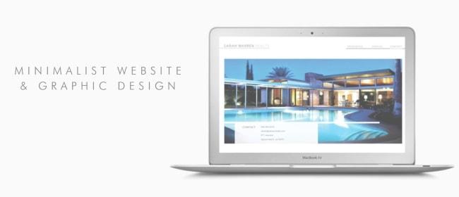 Justin Page Wood: Minimalist Website & Graphic Designer. Click to visit Justins' online portfolio!