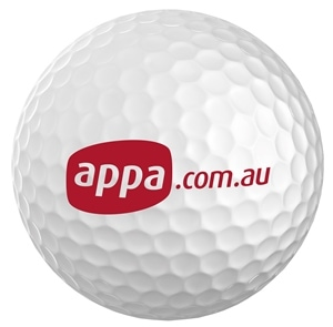 Golf Ball Mock-up for APPA by Freelance Graphic Designer Marty Daley