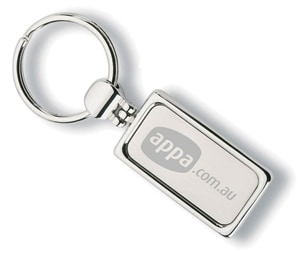 Keyring Mock-up for APPA by Freelance Graphic Designer Marty Daley. Click to visit Marty Daley's website!