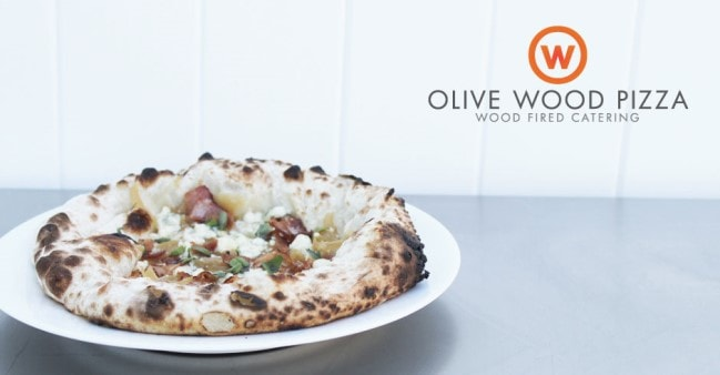 Minimalist Web Design, Logo Design and Photography for Olive Wood Pizza by Freelance Graphic Designer Justin Page Wood. Click to visit Justin's online portfolio!