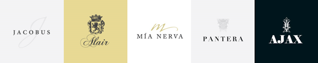 Minimalist Wine Logo Designs by Freelance Graphic Designer Justin Page Wood. Click to visit Justin's online portfolio!