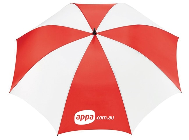 Umbrella Mock-up for APPA by Freelance Graphic Designer Marty Daley. Click to visit Marty Daley's website!