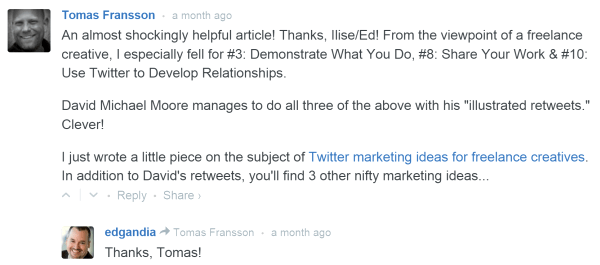 Example of Posted Comment. Blog Commenting Case Study: 26 Comments. 2,208 Visits