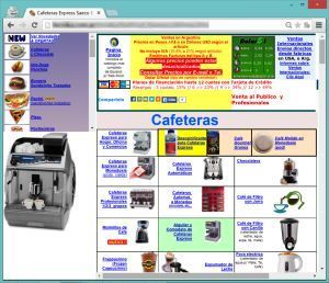 Example of a Slightly Outdated Web Design
