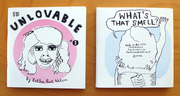 Direct Mail Ideas for Freelancers. Zine'Unlovable' by Freelance Illustrator, Artist & Cartoonist Esther Pearl Watson - Issue 1. Image courtesy of Robin Rosenthal, freelance creative director/illustrator.