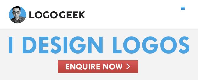 USP for Freelance Creatives. Click to visit Logo Designer Ian Paget, a.k.a. LogoGeek.